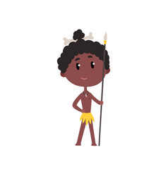 Australian or african aboriginal boy in national vector