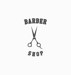 Barber shop logo template design vector