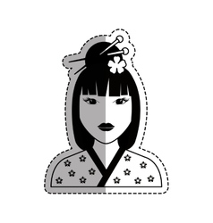 Beautiful geisha face vector