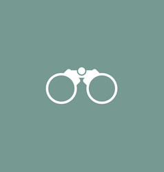 binoculars icon simple vector image