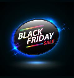 black friday sale oval banner vector image