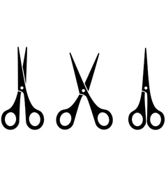 Black scissors vector