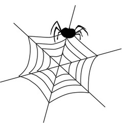 Black silhouette of spider sitting on the vector