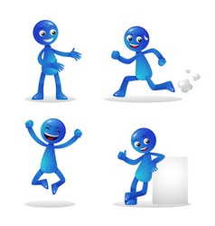 Blue Person Activity 1 vector image