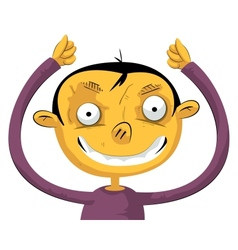 Boy with hands up vector image