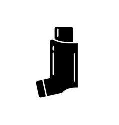 bronchial asthma black icon sign on vector image