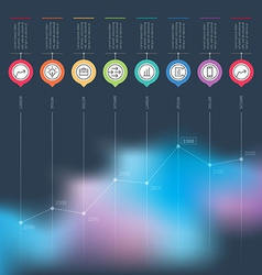Business chart graph or presentation infographics vector image