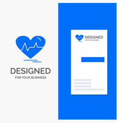 Business logo for ecg heart heartbeat pulse beat vector