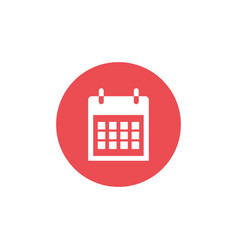 Calendar icon best icon with flat design vector