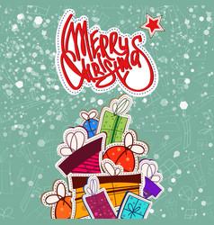 celebrating christmas template vector image