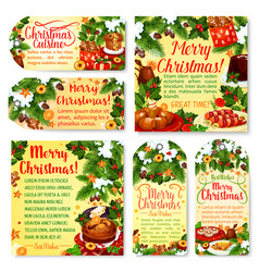 christmas holiday party tag and greeting card vector image