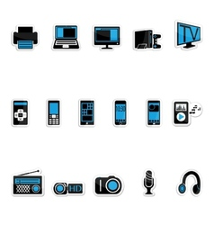 Consumer electronics icon vector image