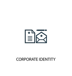 corporate identity icon simple element vector image