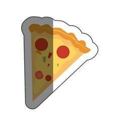 delicious pizza fast food menu vector image