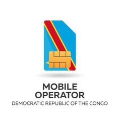 Democratic republic congo mobile operator vector