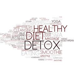 Detox word cloud concept vector