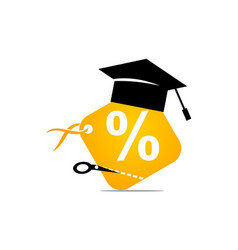 Discount for student vector