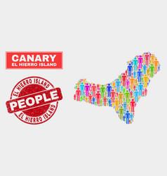 El hierro island map population people and unclean vector