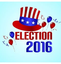 election 2016 in the united states of america vector image