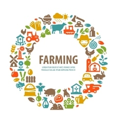 farm logo design template farming harvest vector image