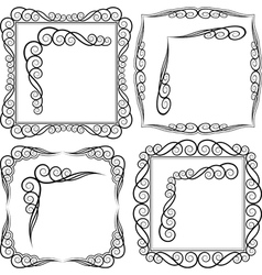 frames and corners vector image vector image
