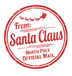 From santa claus grunge rubber stamp vector