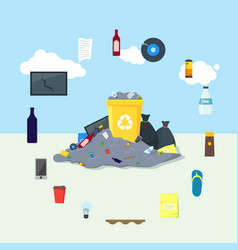 Garbage dump or landfill card poster vector