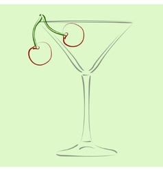 Glass of martini vector image vector image