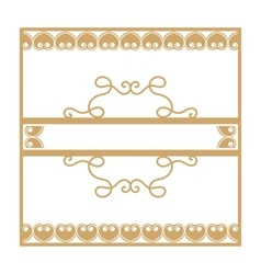 Gold vintage frame with vegetable elements vector