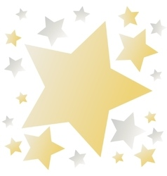 Golden Background With Stars vector image