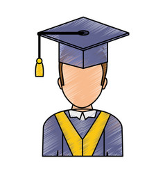Graduation man design vector