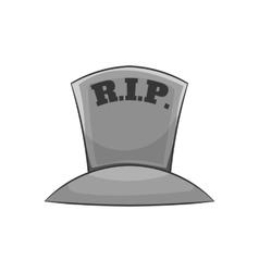 Grave RIP icon black monochrome style vector
