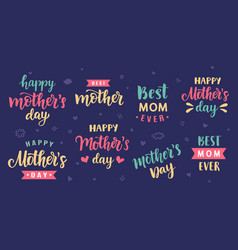 happy mothers day greeting cards posters set vector image