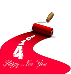 Happy new year brushes with paint vector image