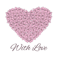 heart wedding floral flowers love vector image