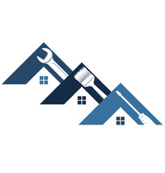 Home repair and maintenance with tool symbol vector