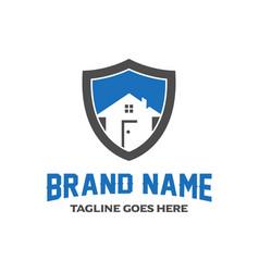 Home shield logo design vector