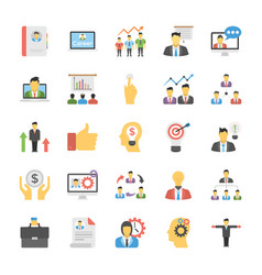Human resource flat icon pack vector