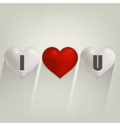 I love you with heart vector