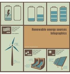 infographics of energy vector image