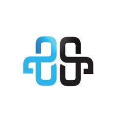 Initial letter es design logo vector