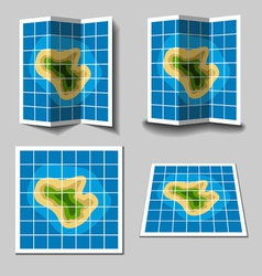 Island map icons vector