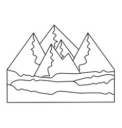 Isolated mountains view vector