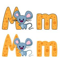 Letter M mouse vector