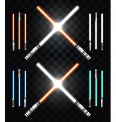 Light swords star war laser weapons laser sword vector