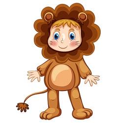 Lion costume vector