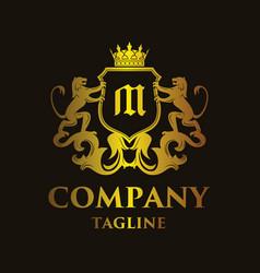Luxury letter m logo vector