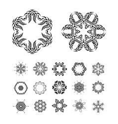Mandala round ornament Vintage art elements vector image