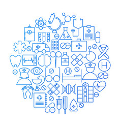 medicine line icon circle design vector image