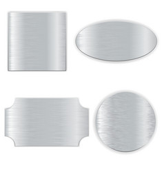 Metal plates set 3d vector